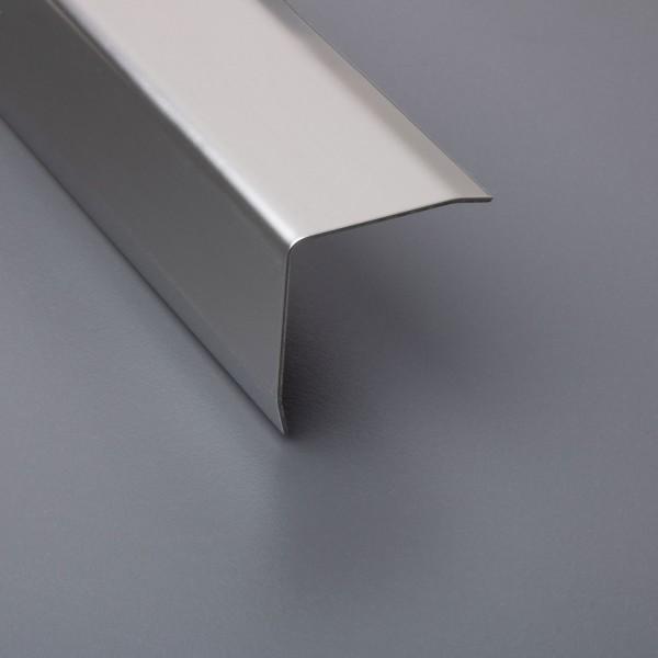 Kantenschutzprofil - Edelstahl Feinschliff - dreifach gekantet