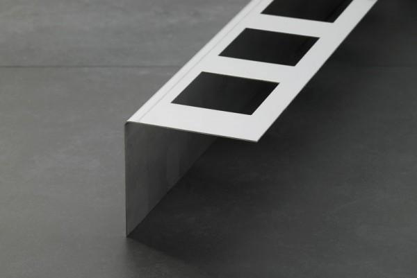 Balkonprofil Aufschlagschenkel Edelstahl