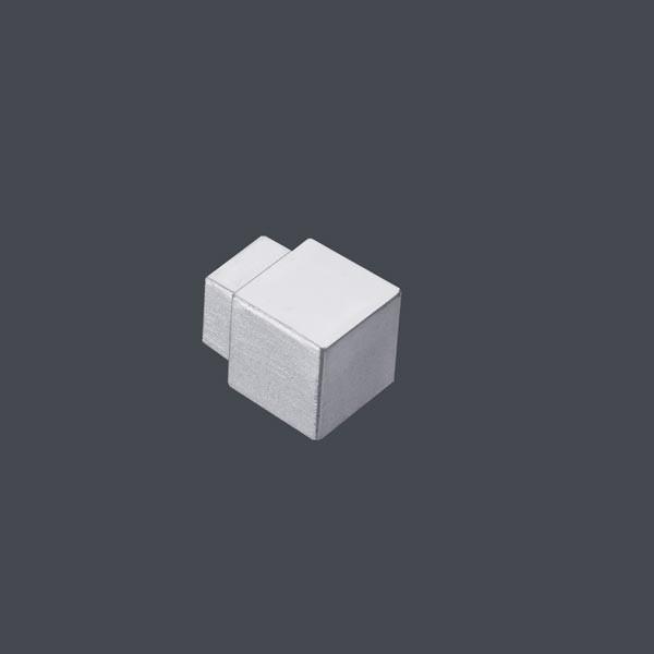 Quadratecke Alu silber