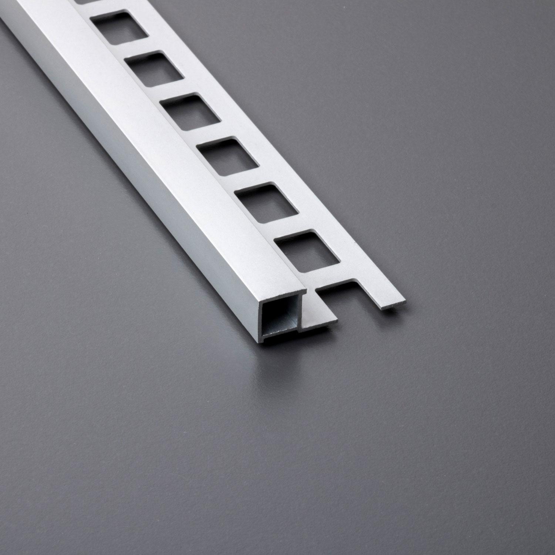 Fliesenschiene Aluminium Winkelprofil Abschlussprofil 8mm//2500mm