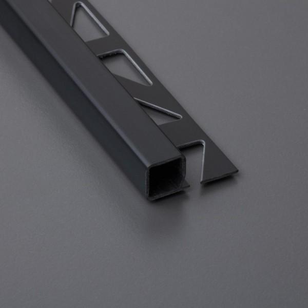 Quadratprofil PVC - schwarz