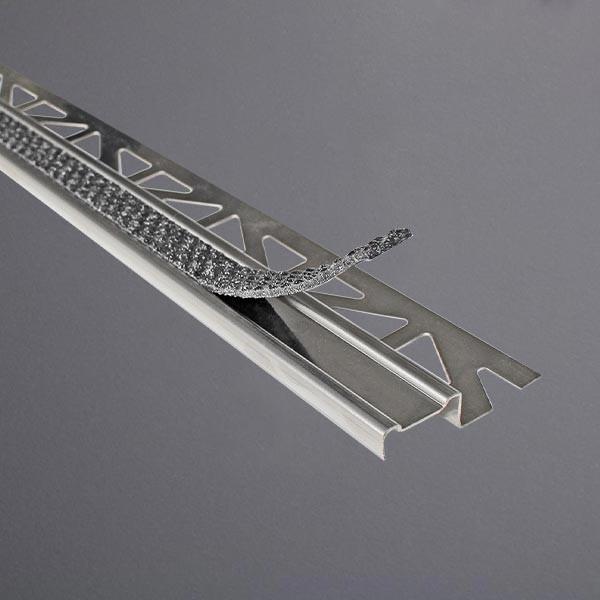 Treppenprofil aus Edelstahl Einlage anthrazit