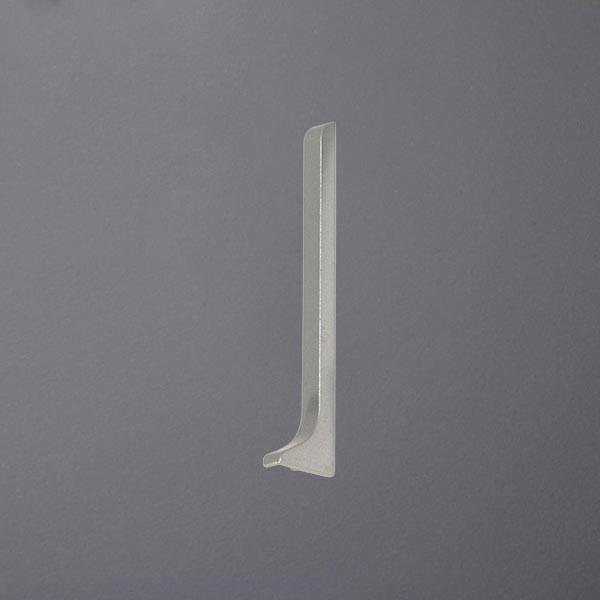 Endkappe rechts für Sockelleisten silber eloxiert