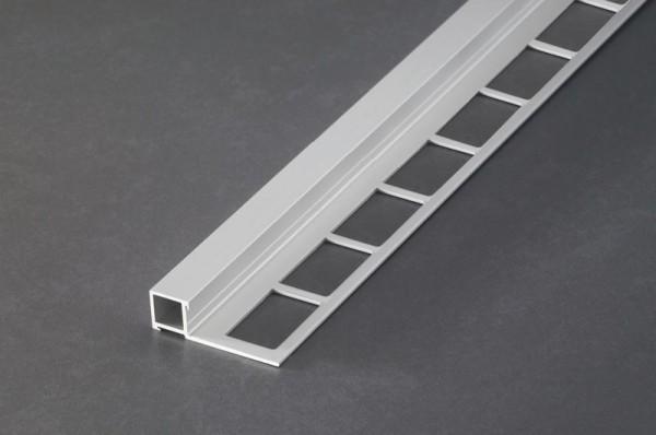 Fliesenschiene Musterstück - Quadratprofil Aluminium