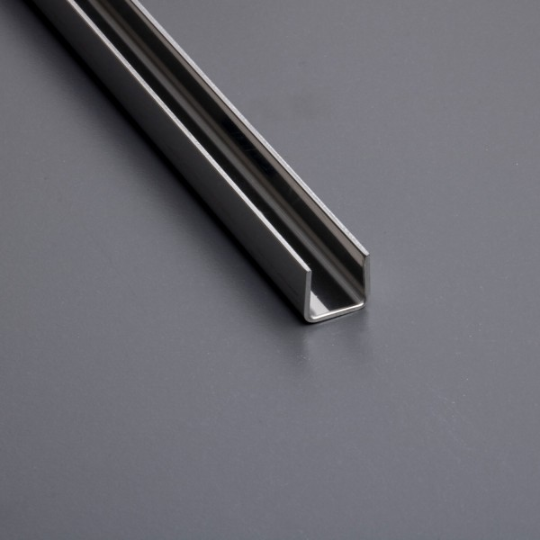 U-Profil / Glasprofil Edelstahl 220cm