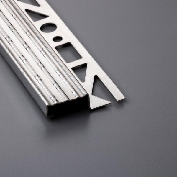 Treppenkantenprofil aus Edelstahl