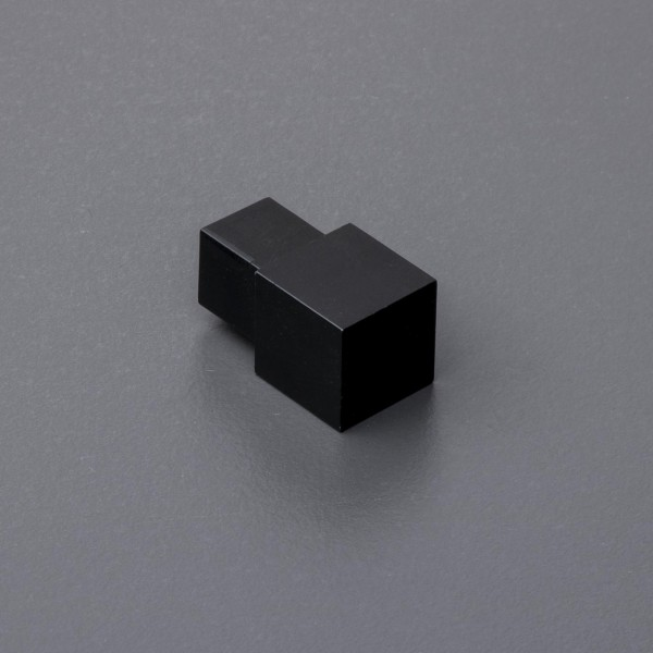 Quadratprofil Eckstück Aluminium schwarz