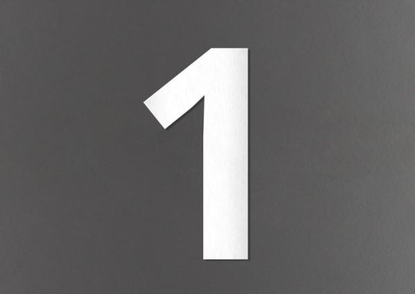 Design Edelstahl-Hausnummern - fein gebürstet