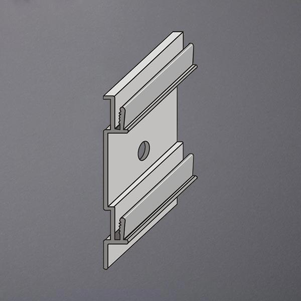 Wandhalter für Sockelleisten mit Kabelkanal