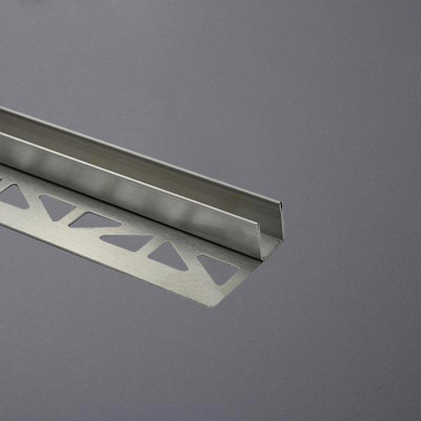 Gefällekeil aus V2A Edelstahl zur Glasaufnahme links