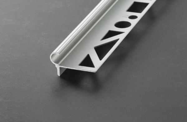 Florentiner Stufenprofil - Aluminium