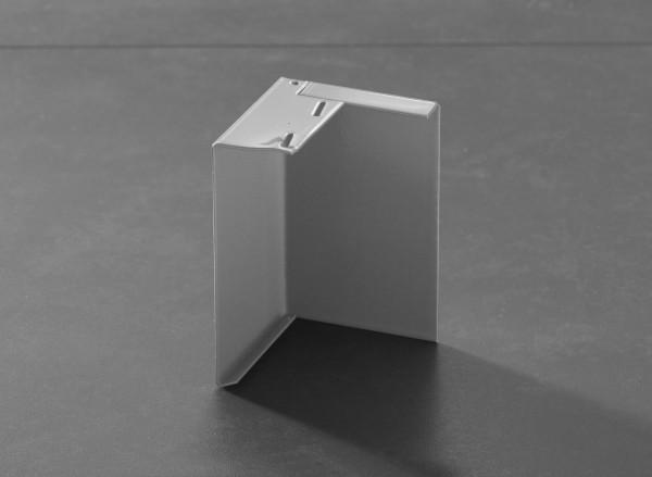 Außenecke für Balkonprofil Aufschlagschenkel Aluminium