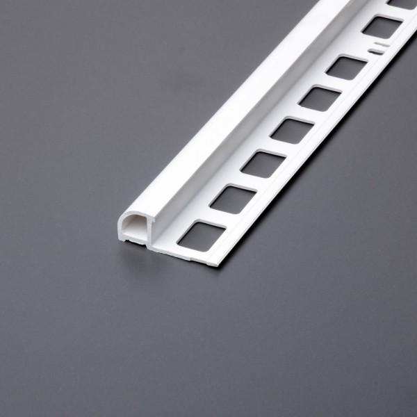 Rundprofil weiss PVC
