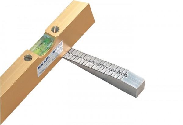 Estrich-Messkeil aus Voll-Aluminium