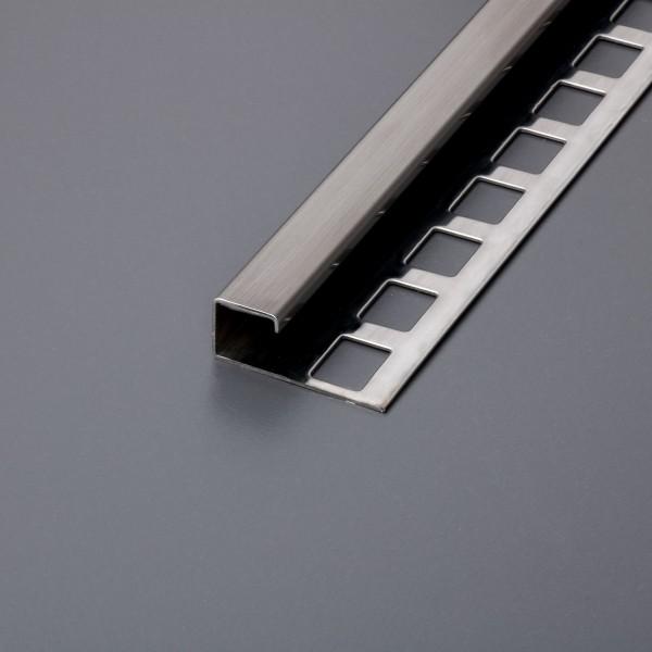 Fliesenprofil Quadratprofil Edelstahl gebürstet