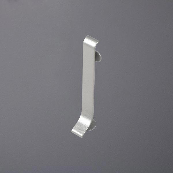 Verbinder für Sockelleisten silber eloxiert