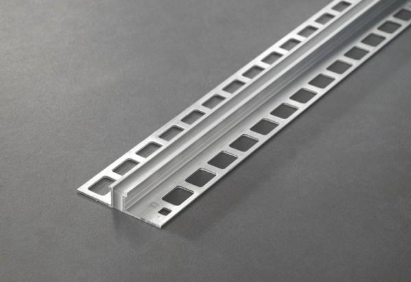 Dehnungsfugenprofil Aluminium Natur mit Silikon-Einlage Betongrau